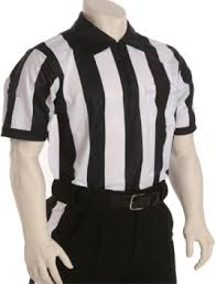 "Smitty's 2 1/4"" stripe Football official shirt"